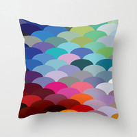 Scale Spectrum Pillow in Cool
