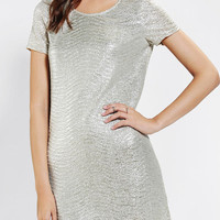 Staring At Stars Metallic Crinkle Tee Dress - Urban Outfitters