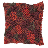 Contemporary Red/ Orange Square Pillows (Set of 2)