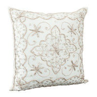 Handmade Beaded Decorative Pillow