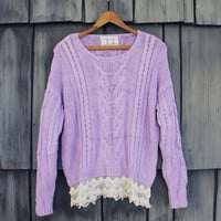 Misty Lake Fisherman's Sweater