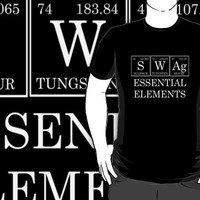 Redbubble Swag Periodic Table Tee Black