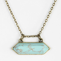 Faceted Stone Necklace - Urban Outfitters