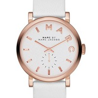 MARC BY MARC JACOBS 'Baker' Leather Strap Watch, 37mm (Save Now through 12/9) | Nordstrom