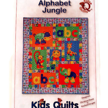 Alphabet Jungle,Kids Quilt,Applique from beaverheadtreasures.com