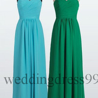 Custom Simple Cheap Long Prom Dresses Bridesmaid Dress 2014 Evening Gowns Cocktail Dress Party Dresses Evening Dresses Formal Wear