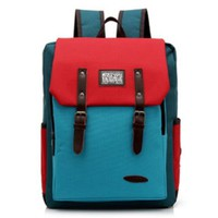 Stylish Cute Brilliant Mixing Color Canvas Bag Backpack