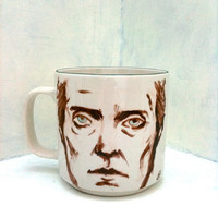 Made To Order- Christopher Walken Mug OOAK portrait on porcelain cup