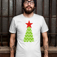Christmas Green Tree Tshirt Mens Design T Shirt for Men (Various Color Available)
