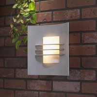 Konstsmide Idun Single Light Outdoor Wall Fitting in Aluminium - Konstsmide from Castlegate Lights UK