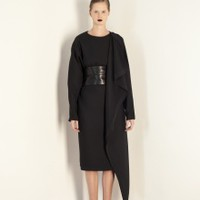 Asymmetric Black Coat Dress | NOT JUST A LABEL