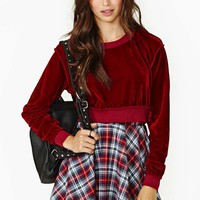 Kindred Velvet Crop Sweater