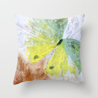 butterfly Throw Pillow by rysunki-malunki