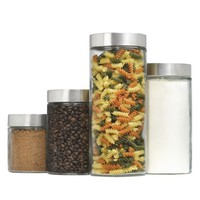 Threshold™ Glass Cylinder Canister Set of 4