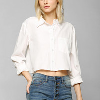 BDG Cropped Oxford Shirt- White L