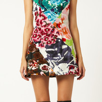 FLOWER BOMB EMBRO SQUARE DRESS