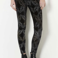 Glitter Palm Leggings