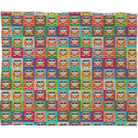 Sharon Turner Peace Campers Fleece Throw Blanket
