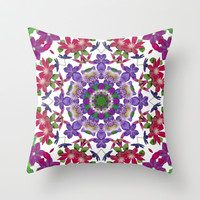 Clematis cascade I Throw Pillow by RVJ Designs