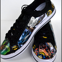 Custom Mens Shoes, Mens Batman Shoes, Custom Adult Shoes, Mens Art Shoes, Mens Comic Book Shoes, Marvel Shoes, Xmas Gifts for Men, Small Biz