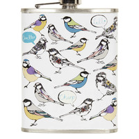 BIRD PRINT HIP FLASK
