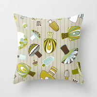 Fantastical Fungi Throw Pillow by Heather Dutton