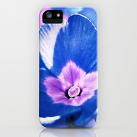 blue flower iPhone & iPod Case by Angela Bruno