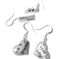 Sassy Sayings Earrings