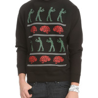 Zombies & Brains X-Mas Sweater Crewneck Sweatshirt 2XL