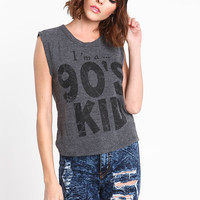 90'S KID SLEEVELESS TEE