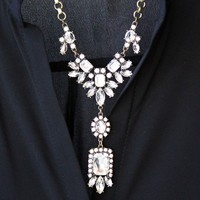 Rhinestone Drop Necklace