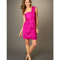 BCBGMAXAZRIA Palais Ruffle Front Cocktail Dress