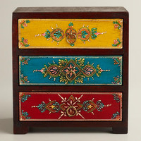Multicolor Painted 3-Drawer Chest