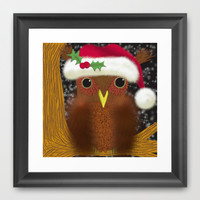 The Christmas Eve Owl Framed Art Print by One Artsy Momma