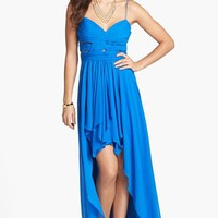 Hailey Logan Pleated Chiffon High/Low Gown (Juniors) | Nordstrom