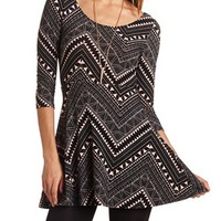 TRIBAL PRINT SKATER DRESS