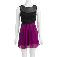 Walmart: Juniors Faux Leather Laser Cut Dress