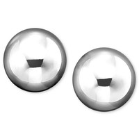 14k White Gold Ball Stud Earrings (6mm)