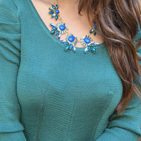 Hey You Beautiful Necklace: Blue