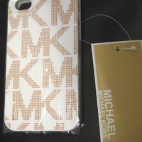 Michael Alphabet Hard Case for Iphone 4, Iphone 4s - White