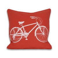 Bicycle Pillow - Tangerine Tango