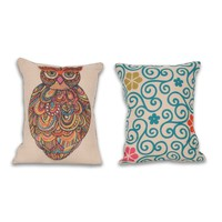 Craft Owl Reversible Pillow
