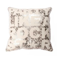 Party Like a Rockstar Pillow - Gold Crackle