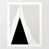 Abstract Mountain Art Print by Georgiana Paraschiv