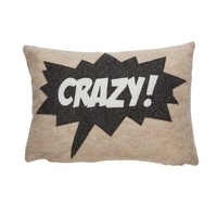 Crazy Pillow - Oatmeal/Charcoal