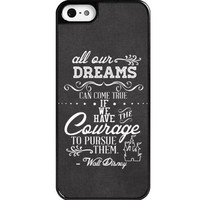 Dreams Walt Disney Quote iPhone 5 case - Custom Personalized iphone 5/5s/5c case