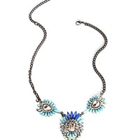 Blue/Mint 3 Pendant Necklace