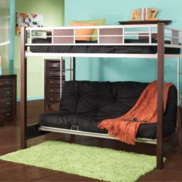 Ivy League Cherry 4 Pc Twin Futon Loft Bed