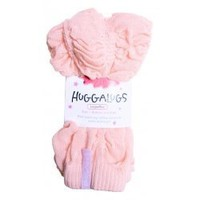 Huggalugs Ballet Pink Shirred Leg Warmers in a very soft shade of peachy-pink.
