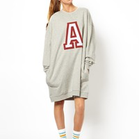 ASOS Massive Sweat Dress With 'A' Applique